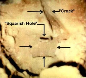 squarish hole
